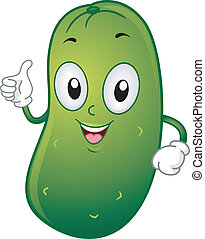 Pickle Mascot - Illustration of a Pickle Mascot Giving a...
