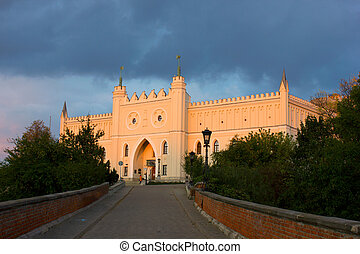 castle of Lublin at sunset , Poland - medieval royal castle...