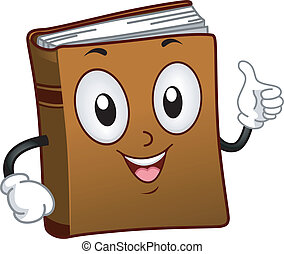 Book Mascot - Illustration of a Book Mascot Giving a Thumbs...