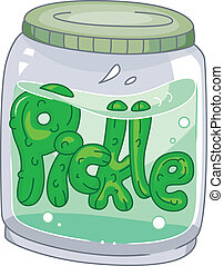 Pickle Jar - Illustration of a Pickle Jar