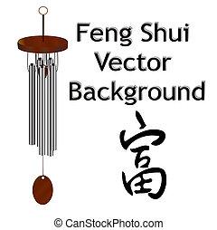 Feng, Shui, vector, Plano de fondo
