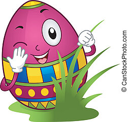 Easter Egg Hunt - Illustration of an Easter Egg Hiding...