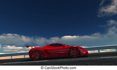 sports car - image of driving