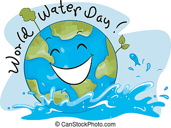 World Water Day - Illustration Celebrating World Water Day