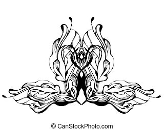 abstract graphic design in black and white - a abstract...