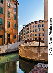 Livorno - Snapshot of the city of Livorno, on the Italian...
