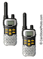 Walkie Talkie isolated on the white background