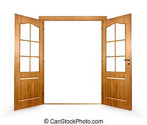 abierto, puerta