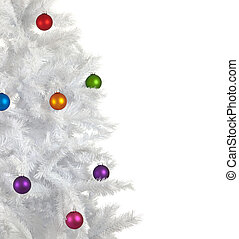 Christmas Baubles on white background - Colorful Christmas...