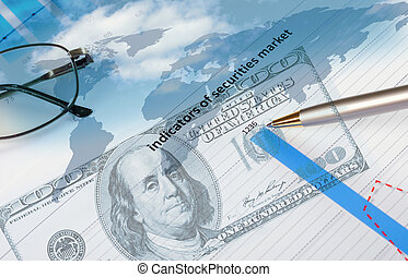 Financial and business charts and graphs - Collage of...