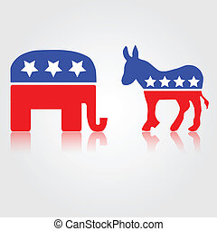 Democratic and Republican Symbols - Democratic Republican...