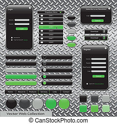Green and Black Web Template