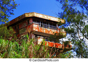 Old abandoned school house on the mountain