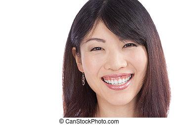 Beautiful Smiling Asian Woman