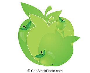 apple label design