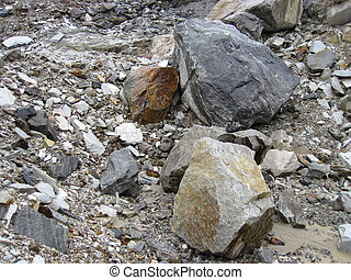 stone in the quarry - many large heavy stone in the quarry...