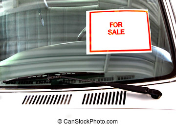 for sale sing on pick up truck windshield