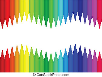 colour marker - Vector image colour marker background