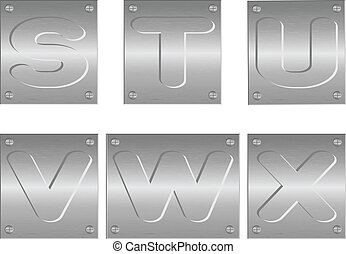 embossed letters and figures