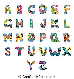 ABC Alphabet - illustration of set of abc alphabet with...