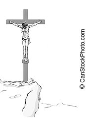 Jesus Christ on Cross - illustration of Jesus Christ on...