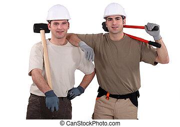 Two male handyman