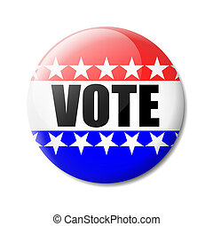 """Badge Vote - Isolated bagde """"vote"""" about the American..."""