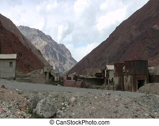 Mining site in Fan Mountains - Abandoned mining site in the...