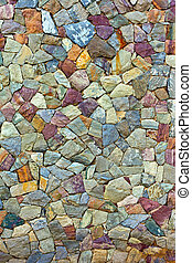 colored Pattern of old stone Wall Surfaced - the colored...