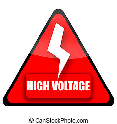 High Voltage Sign - High voltage red sign illustration...