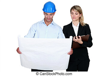 Architect and his personal assistant