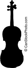 violin silhouette - isolated vector illustration