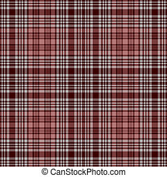 Seamless Rosy Plaid - Bold plaid in rosy pinks, soft grey,...