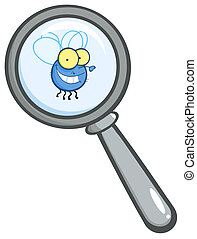 Magnifying Glass With Fly