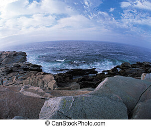Atlantic Ocean by Peggys Cove, Nova Scotia