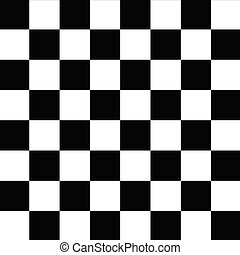 Checkerboard Seamless Pattern Black and White - Black and...