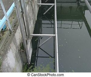 waterwork water treatment - Dirty waste water sewage is...