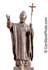 Statue Pope John Pavel 2 in Vitebsk