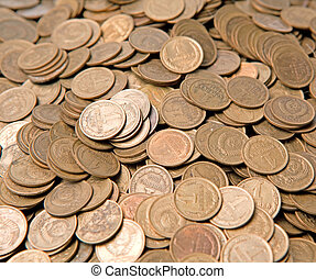 Considerable quantity of copper copecks of the USSR