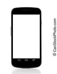 smart phone over white background