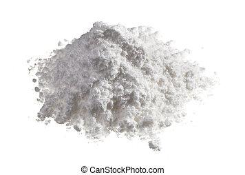 drogas, isolado, cima, Montão, branca, fim, cocaína, vista