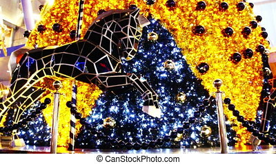 Merry-go-round - Decorative horses on a Christmas theme...
