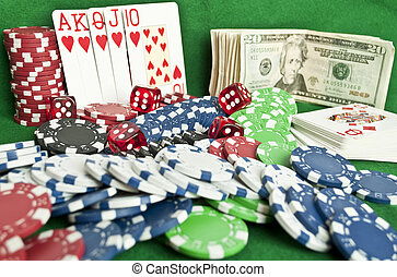 Gambling objects background