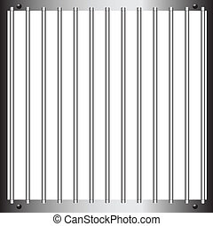 Prison bar - Steel bars of prison bars Vector illustration