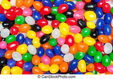 Jelly beans - A pile of colorful candy Easter jellybeans