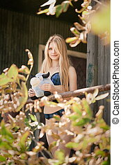 Portrait of lolita girl - Sensual portrait of a young blond...