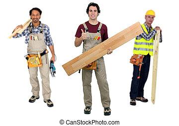Three carpenters