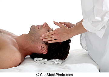 Man having a massage