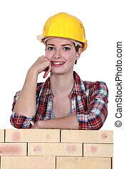 Woman mason
