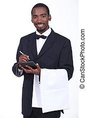 Smart waiter taking order